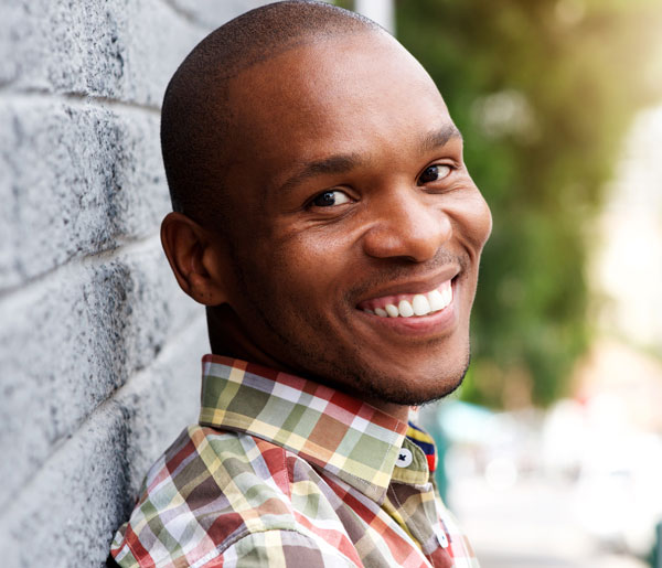 Handsome African American Smiling Man